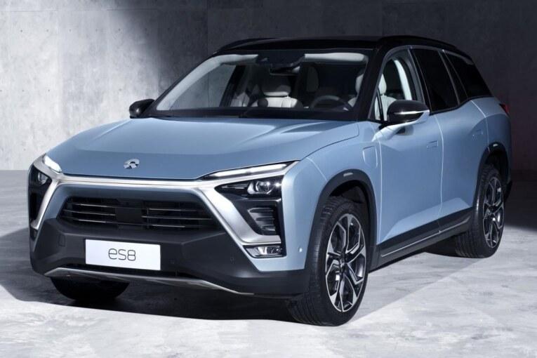 The brand new NIO ES8 Electric SUV Car