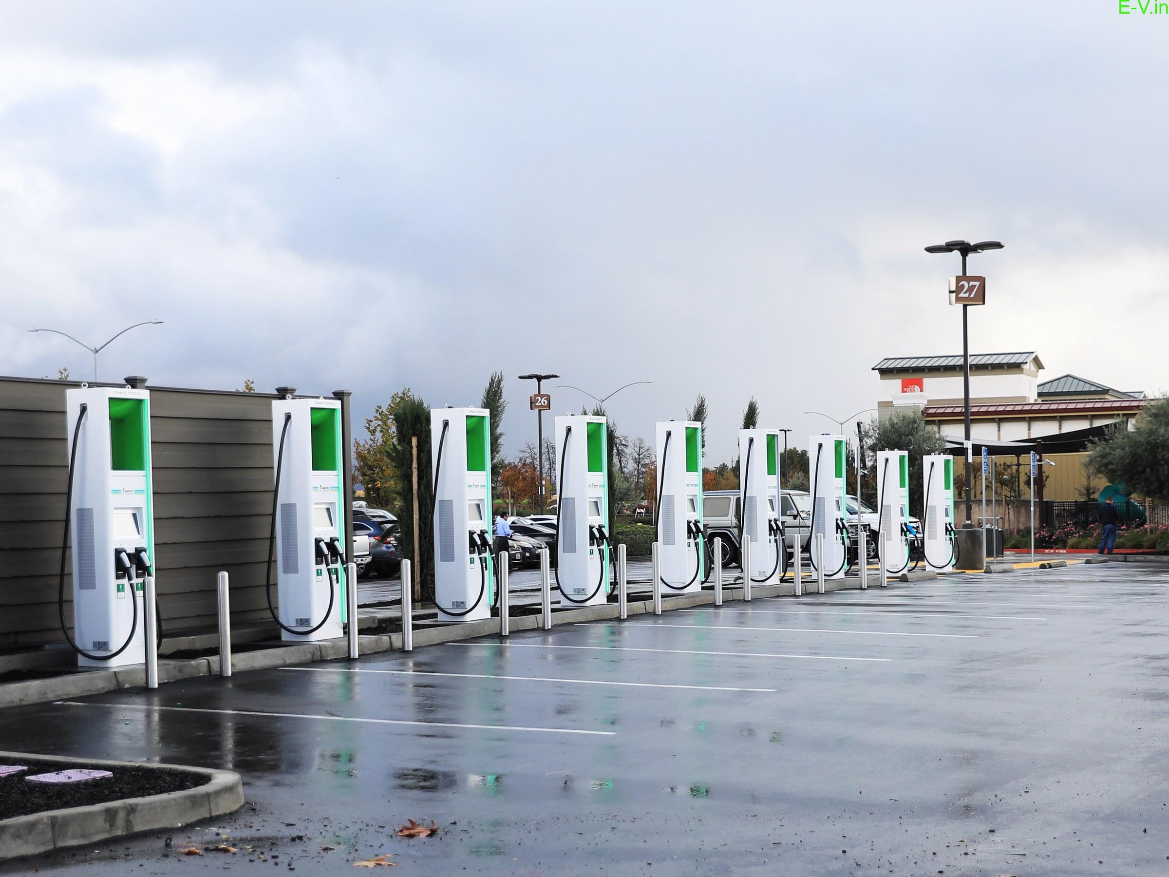 100 EV charging stations