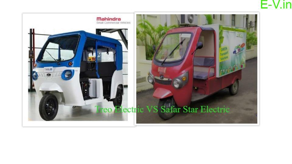 Mahindra Treo E-Auto & Kinetic Safar Star E-AutoComparison