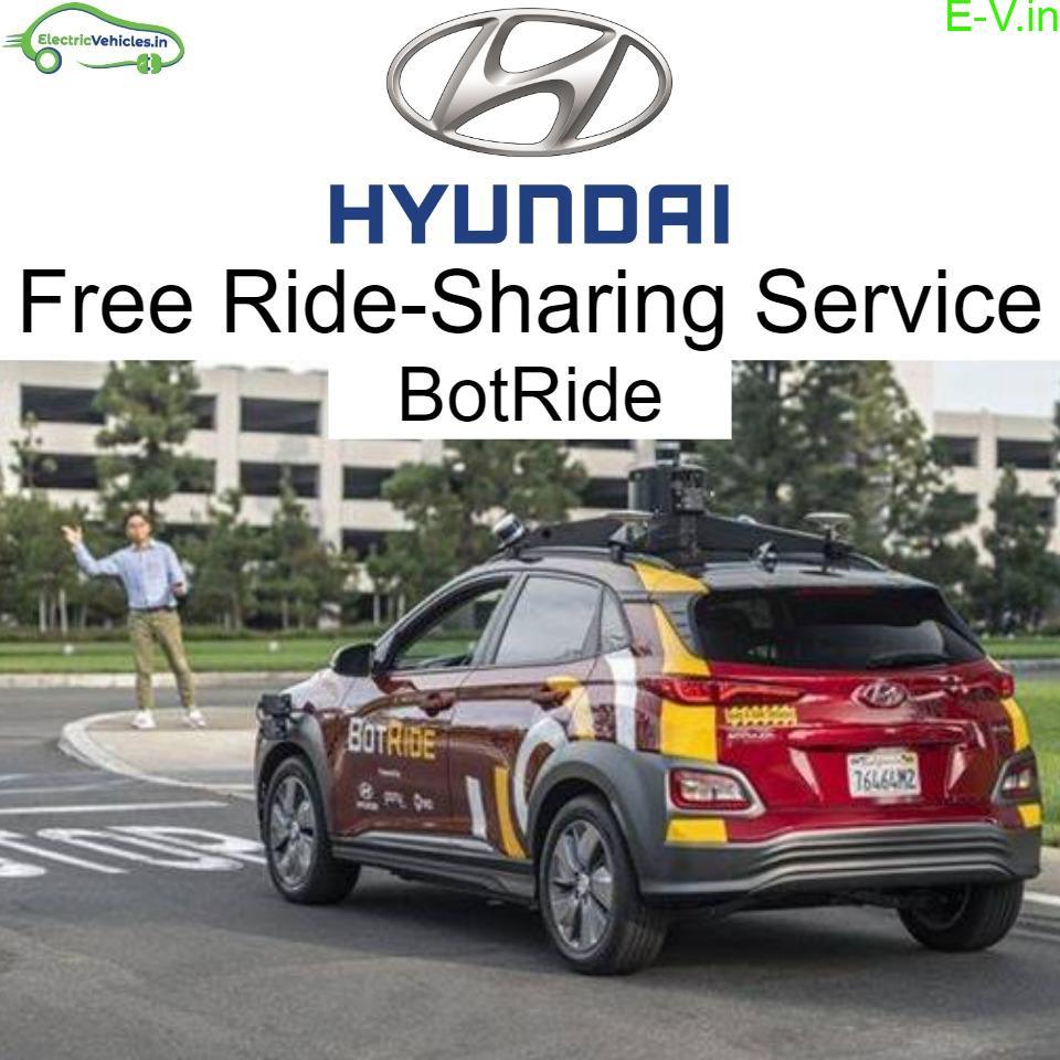 Hyundai to begin free ride-sharing service