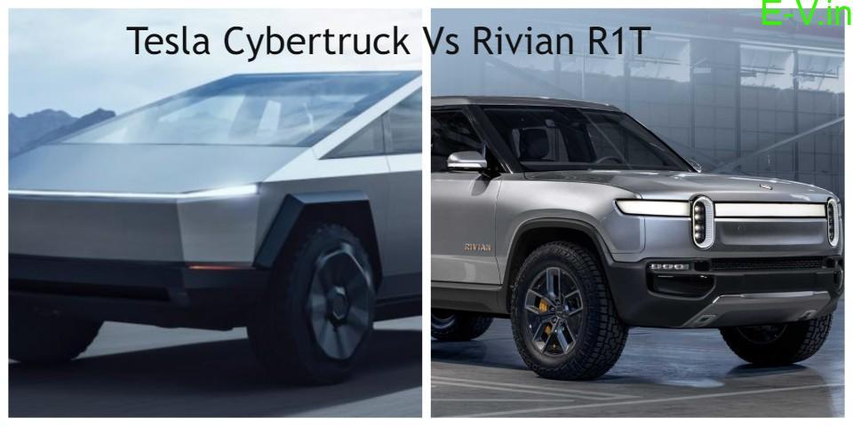 Tesla Cybertruck Vs Rivian R1T electric pickup