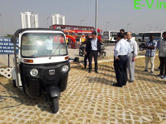 IIT Hyderabad has made an Electric three-wheeler