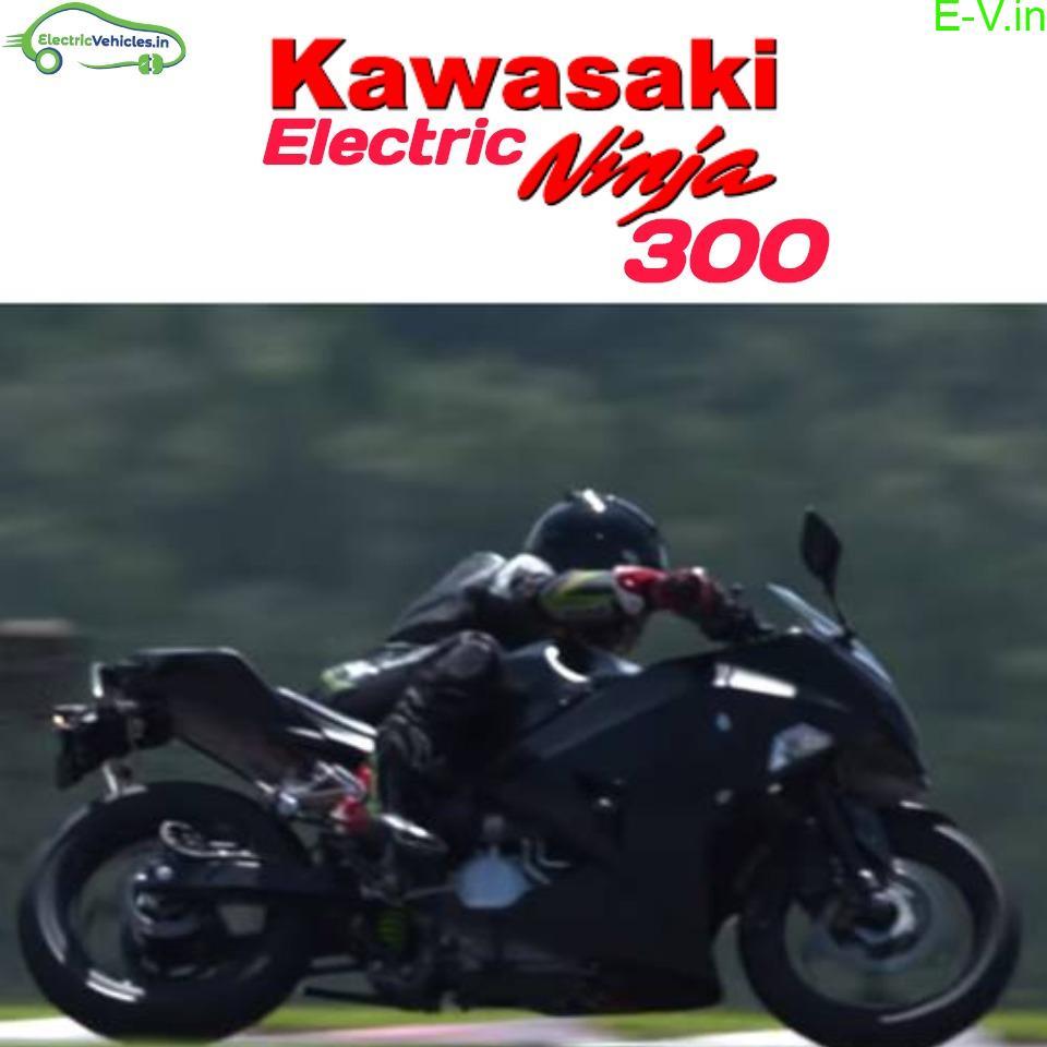 All-electric Kawasaki Ninja 300