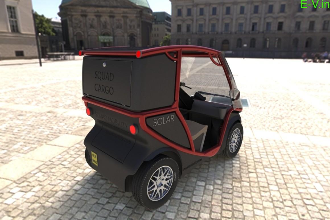 Squad 2-seater solar electric car