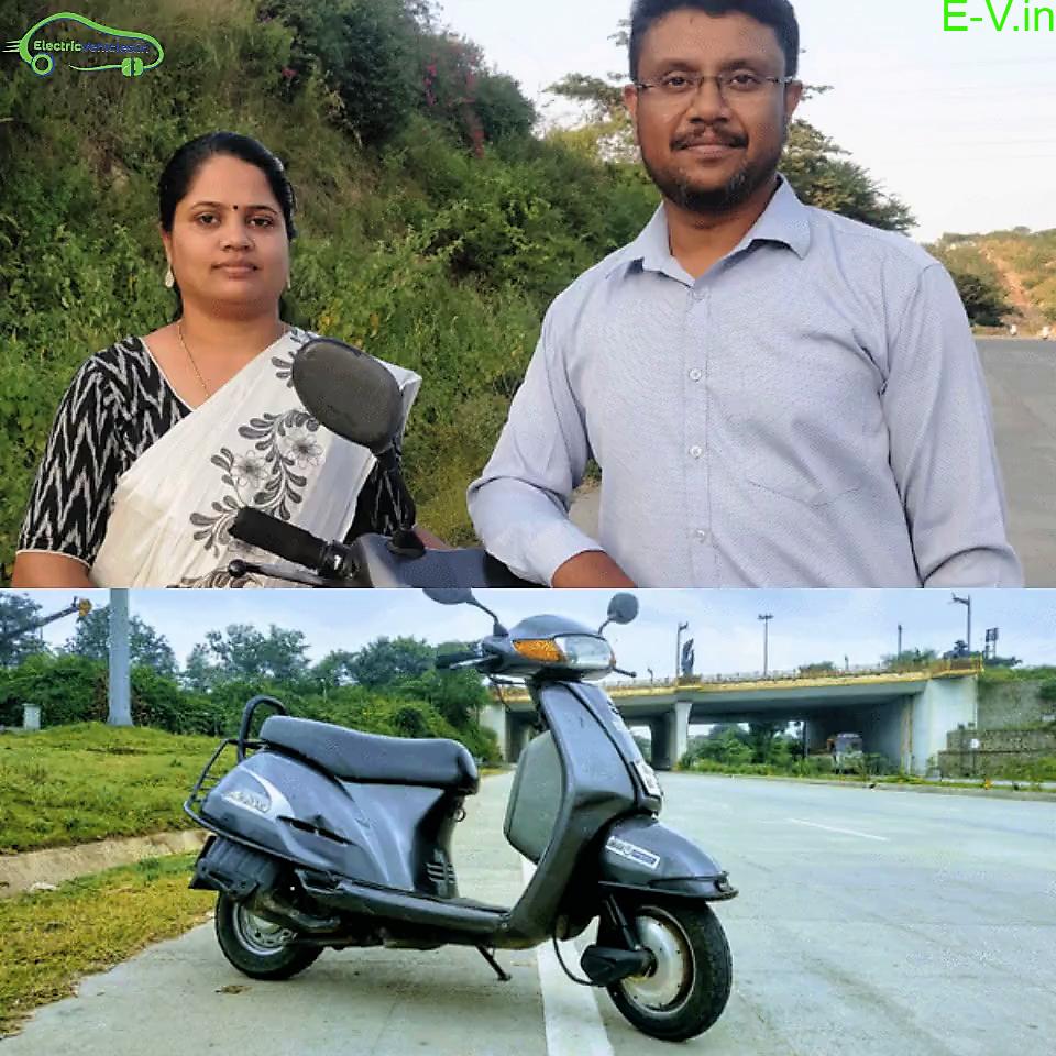 Mr. & Mrs. Winnie Karunakaran and their Electric Conversion Kit