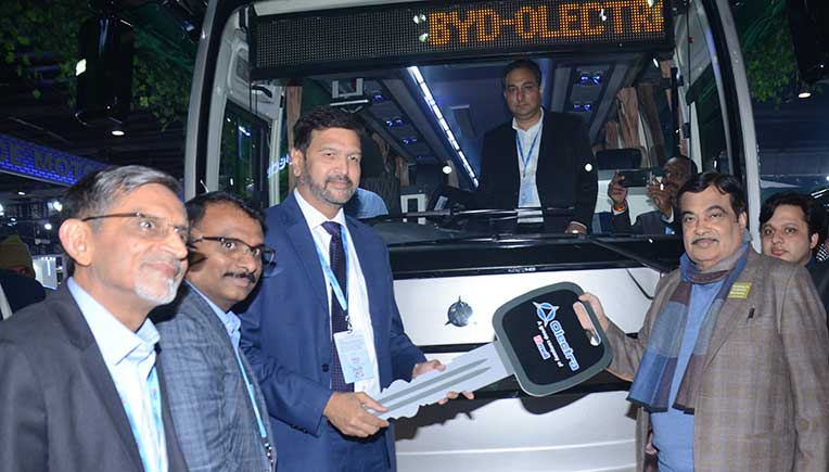 Olectra BYD launches intercity e-buses in Auto Expo 2020