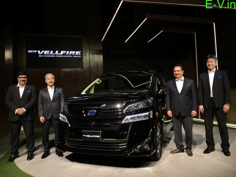 Self-charging hybrid EV 'Vellfire'