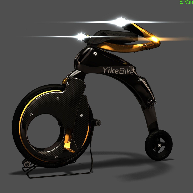 World's smallest folding electric bike-YikeBike