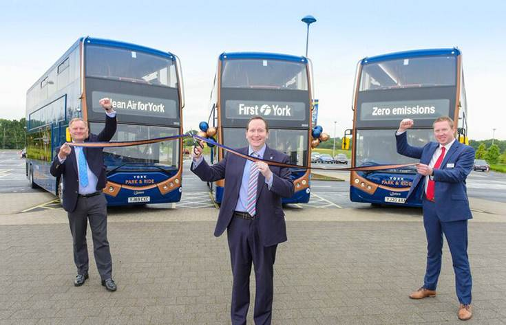 Ashok Leyland subsidiary delivers 21 Metrodecker EVs to UK based First York