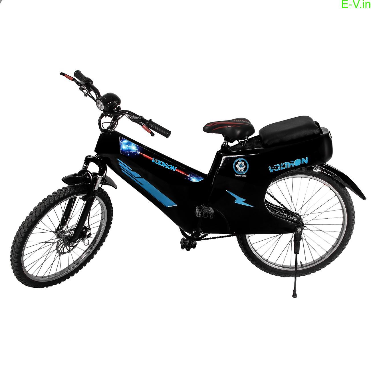 Voltron VM 100 electric cycle gives 100 km range allows pillion riding