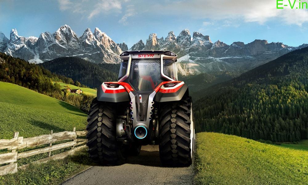 Steyr konzept hybrid electric tractor