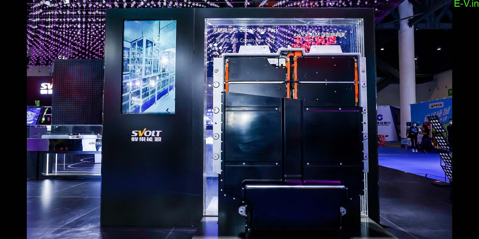 SVOLT unveils cobalt-free battery pack