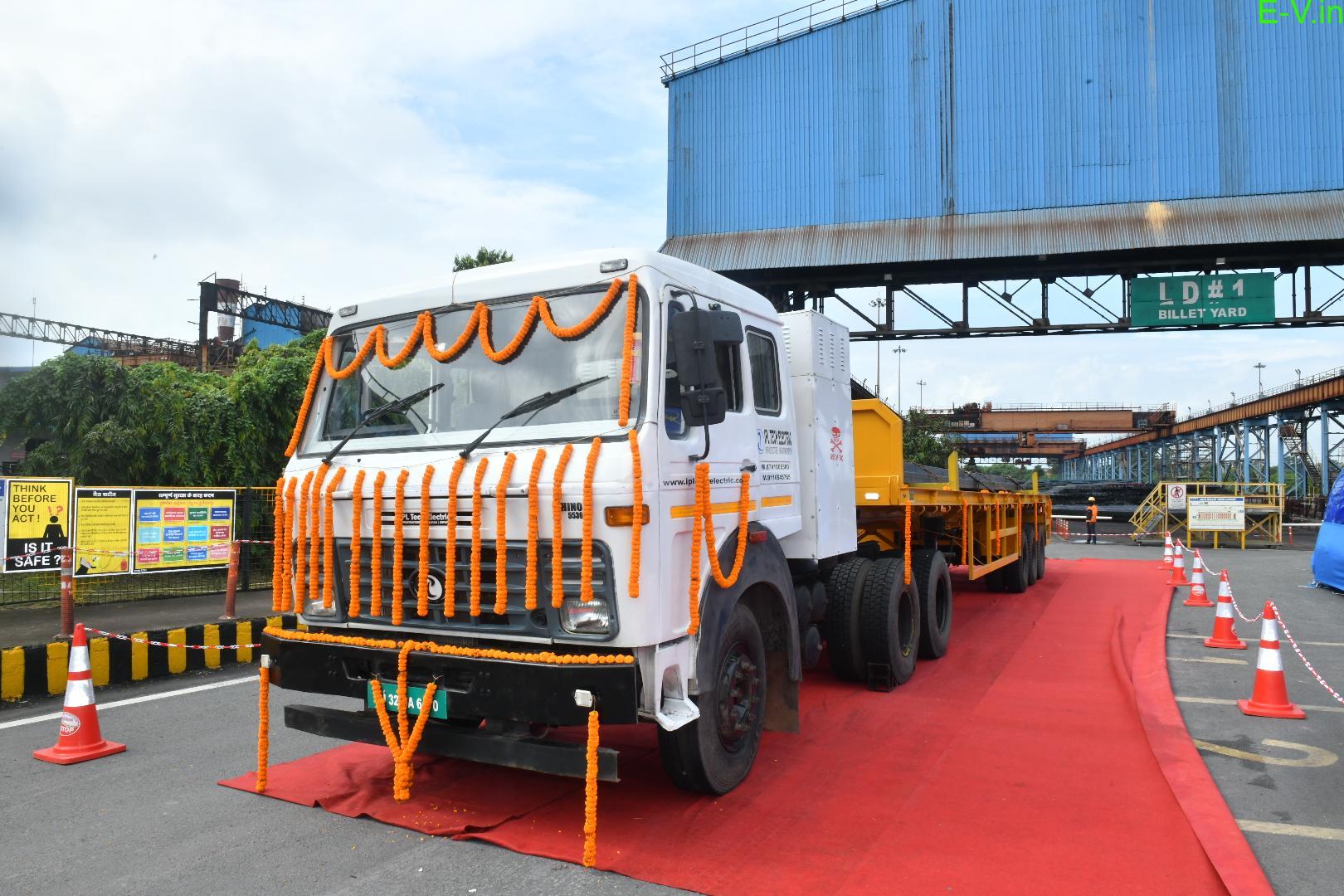 Tata Steel uses electric vehicles