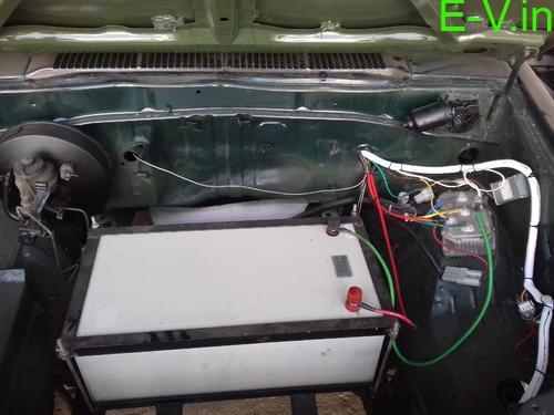 Retrofitting three-wheeler to electric